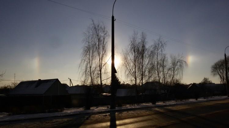 На Рождество брестчане наблюдали атмосферное оптическое явление - гало